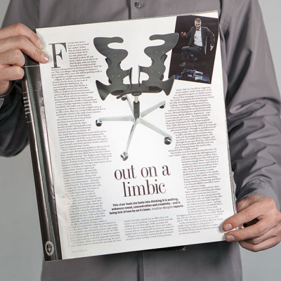 Limbic Chair, Magazinseite
